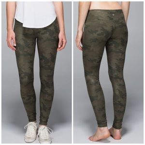 Lululemon Wunder Under Savasana camo leggings